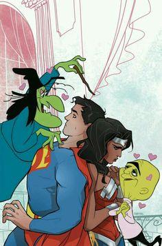 Superman y mujer maravilla