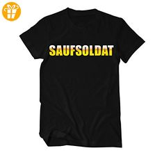 Saufsoldat Bier Suff Männertag Fun T-Shirt Herren Small Schwarz - T-Shirts mit Spruch | Lustige und coole T-Shirts | Funny T-Shirts (*Partner-Link)