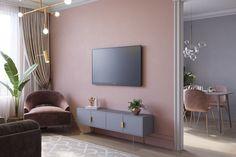 Lágy és divatos lakásdekoráció rózsaszín és szürke szép kombinációjával - fiatal család 84m2-es háromszobás otthona