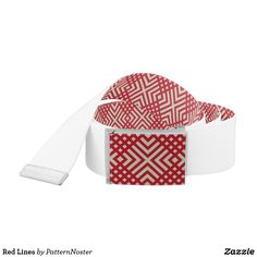 Red Lines Belt #fashion #style #belts #redandwhite #red #gifts #pattern