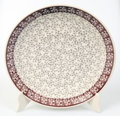 "Polish Pottery - 10"" Dinner Plate - Merlot Thicket 