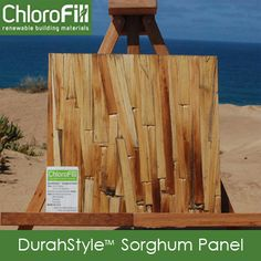 DuraStyle ™ Sorghum Panel - interesting new biobased product made from sorghum grown and manufactured in the US. Lots of architectural applications.