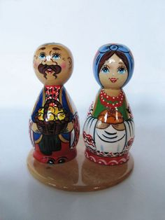 "Ukrainian Matryoshka Nesting doll ""A couple"""