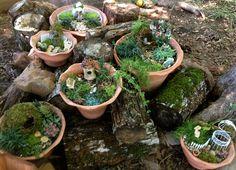 ideas fairy village gardens - Google Search