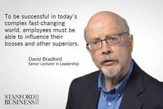 In this interview, Senior Lecturer in Leadership David L. Bradford explains how exerting influence is all about giving other people what they need in exchange for what you need. Watch the video: http://stnfd.biz/heq3K