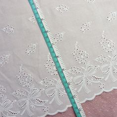 1Yd Lovely Ribbon Embroidered Cotton Lace Trim Off-white 11.5inch(29cm) Wide