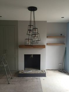 Adam Coles has sent in this photo of his new Rustic Beam fitted in place and awaiting the installation of Mr Coles new appliance. Let us know what you think. Oak Mantel, Mantel Shelf, Fireplace Beam, Fireplaces, Log Burner, Appliance, Beams, Room Ideas, Lounge