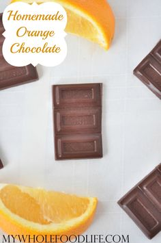 Homemade Orange Chocolate Bars.  Perfect for holiday parties or whenever.  ZERO refined sugars and only 4 ingredients! Vegan, gluten free and paleo.