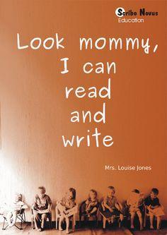 Kyk mamma, ek leer lees en skryf 'n Afrikaanse boekie wat jou kind help met lees en skryf Education In South Africa, Louise Jones, Classical Education, Learn To Read, My Books, Writing, Learning, Studying, Teaching