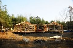 Connected yurts, yurt living with children