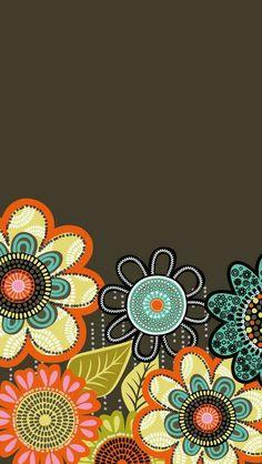 Dress your tech: Flower Shower Mobile Wallpaper Mobile Wallpaper, Wallpaper For Your Phone, Trendy Wallpaper, Cellphone Wallpaper, Flower Wallpaper, Cool Wallpaper, Pattern Wallpaper, Cute Wallpapers, Tropical Wallpaper