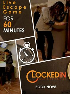 The #LiveEscapeGame at ClockedIn is designed to be one of the most fun ways you will ever find to spend 60 minutes of your life with your family or friends. Visit www.clockedin.dk today.