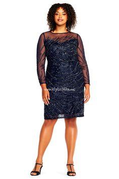 Платье Plus size темно-синего цвета #платьяplussize #платьядляполных