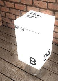 Light cube signage