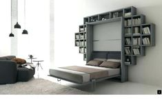 """Awesome """"murphy bed plans queen"""" information is readily available on our internet site. Have a look and you wont be sorry you did. Build A Murphy Bed, Murphy Bed Desk, Murphy Bed Plans, Sofa, Couch, Murphy-bett Ikea, Horizontal Murphy Bed, Modern Murphy Beds, Shopping"""