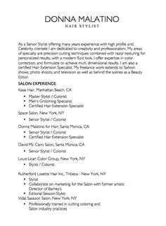 This Example Resume For Hair Stylist We Will Give You A Refence Start On  Building Resume.you Can Optimized This Example Resume On Creating Resume  For Your ...