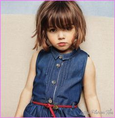 awesome Young girl haircut with bangs