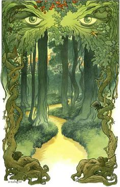 """Into the Green"" by Charles Vess © 2001 - one of the best illustrators EVER!!!!!!"