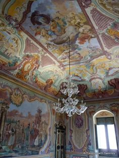 Tempera paintings in the Palazzo Ducale in Martina Franca,