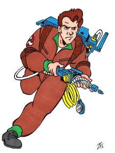 Ghostbusters Party, The Real Ghostbusters, Cartoon Art, Cartoon Characters, Fictional Characters, Ghost Busters, Cool, Girl Tattoos, Coloring Pages