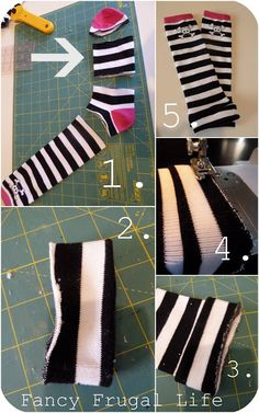 DIY Toddler Leg Warmers from $1.75 Woman's Clearance Knee Socks |