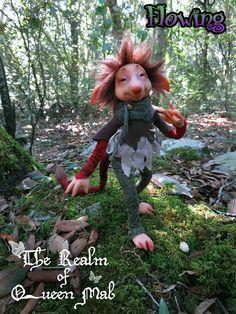 Forest Creatures - Travellers . Flöwing . Art Doll.