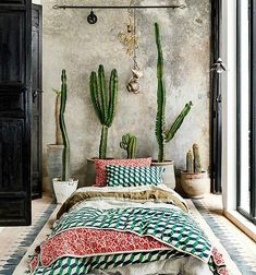 ONLY the bed patern isn't for me. A Moroccan Mansion That's Giving Us Serious Design Inspo Bohemian Bedroom, Decor, Relaxing Bedroom, Bedroom Decor, Bed, Design Inspo, Bedroom Inspirations, Home Decor, Room