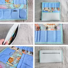 Liesl Made Deluxe Tri-Fold Circular Knitting Needle Case Tutorial