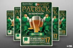 Saint Patricks Day Flyer Template V2 by Thats Design Store on @creativemarket