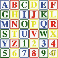 100's of free cross stitch patterns with registration. Alphabet I