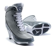 Women Nike Shoes Womens Air Jordan 9 Grey White Boots [Womens Air Jordan 9  Boots - Generous Womens Air Jordan 9 Grey White Boots are marked with  simple ...