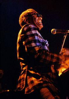 Ray Charles in concert, c. 1976. Photo by John Maginnis.