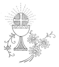 pergamano - Page 9 Christian Crafts, Christian Symbols, Christian Art, First Communion Banner, Première Communion, Hand Embroidery Patterns, Machine Embroidery, Religious Cross Stitch Patterns, Idees Cate
