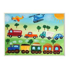 The Kids Room Trucks, Trains, and Planes Wall Plaque