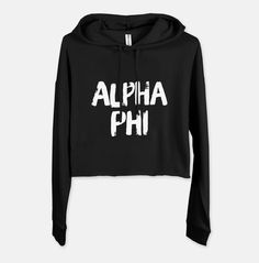 You'll wear this cute cropped hoodie all Fall & Winter long! Greek Gifts, Big Little Gifts, Sorority Sisters, Cute Mugs, Inspirational Gifts, Cropped Hoodie, Hoodies, Sweatshirts, Black And Brown