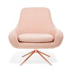 Drawing inspiration from mid-century modern styles, architects Busk   Hertzog designed this organically shaped, molded seat set on a geometric, swivel base. Clad in a removable wool-and-nylon slipcover, softly rounded armrests and back are designed to draw in the body, while a sleek copper base imparts sophistication.Displaying the quintessential qualities of Scandinavian furniture design - Softline is clean, classic, and minimalistic.