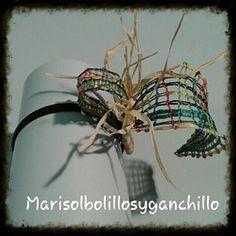 TOCADO DE BODA ENCAJE DE BOLILLOS #encajedebolillos #bolillos#tocado#boda