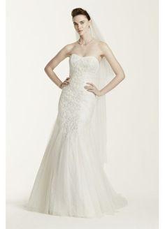 Oleg Cassini Tulle Mermaid Wedding Dress with Lace http://www.davidsbridal.com/Product_oleg-cassini-tulle-mermaid-wedding-dress-with-lace-cwg668_wedding-dresses-gowns-over-%24800 CWG668