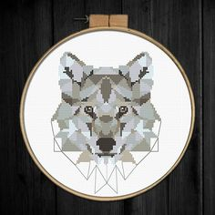 Tittle: Geometric Wolf Joint project with villavera.etsy.com (based on geometric artwork of villavera) This PDF counted cross stitch pattern available for instant download. Skill level: Beginner. Pattern size (without white borders around): stitches: 95h x 70w ready design: 6.8h x 5.0w inches for 14-count fabric. You can frame it in 8 x 10frame Floss: 13 DMC colors 14-count Aida fabric This PDF pattern include: • description • colorful symbols chart (placed on 3 pages) • DMC floss list ...