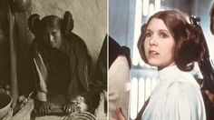 Images of unmarried Hopi woman (1906) alongside Princess Leia (1977) - they have similar hairstyles
