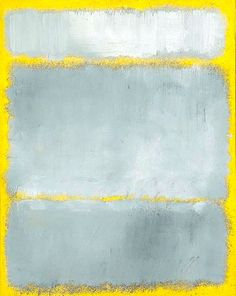 Mark Rothko, grey and yellow
