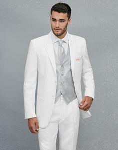 Jos. A. Bank Peak Lapel White Tuxedo Wedding Tuxedos + Suit photo