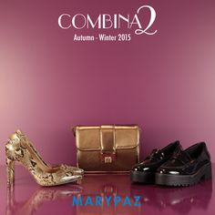 COMBINA2: 1 bolso xa 2 zapatos <3  ¡ Aprovéchate del 15% de descuento en los dos zapatos de esta imagen !  ►►► AHORA 15% dto. en los artículos más juveniles de la temporada en nuestra amplia red de tiendas y en nuestra tienda online  Descubre nuestro 15%dt http://www.marypaz.com/tienda-online/index.php/15-season-sale.html