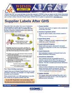 Whmis 2015 instructor 39 s toolkit and participant 39 s workbook for Whmis workplace label template