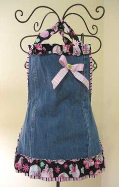 country apron denim | Handmade Country Aprons - Buttermilk Hill Online Country Market