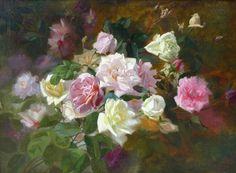 Marc-Laurent Bruyas  (1821-1896)   Study of Roses