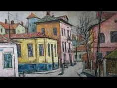 David Croitor, 1958 ~ Old street of Bucharest Street Painting, City Painting, Painting & Drawing, Unique Paintings, Your Paintings, Landscape Paintings, Flower Paintings, Old Street, Street Art
