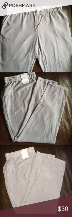 Brand new Liz Claiborne pants Brand new light grey Liz Claiborne jogger pants. Great for work or going out. Never worn, new with tags. Size XL and 100% polyester Liz Claiborne Pants Track Pants & Joggers