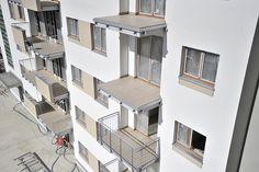 płytki na balkonach już są, balustrady przyjadą