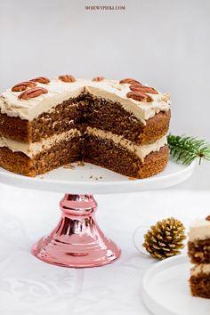 Ciasto orzechowe z kremem kawowym
